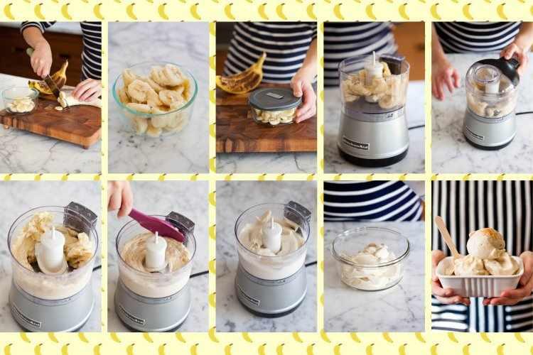 Фоторецепт мороженого из банана