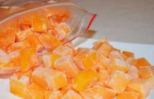 Замороженные кубики тыквы