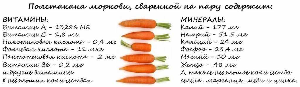 Полезный состав моркови