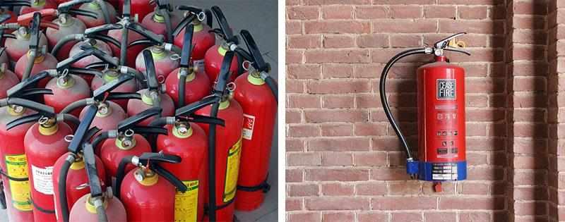 Хранение огнетушителей