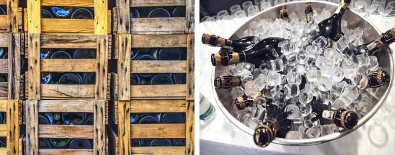Бутылки игристого вина