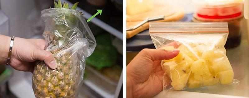 Хранение ананаса в холодильнике