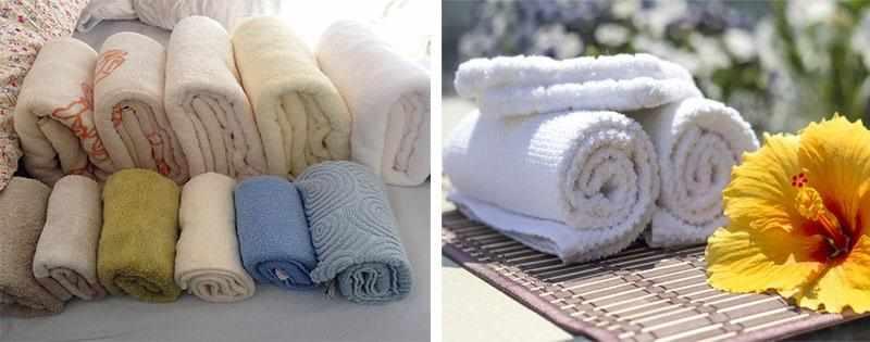 Складывание полотенец