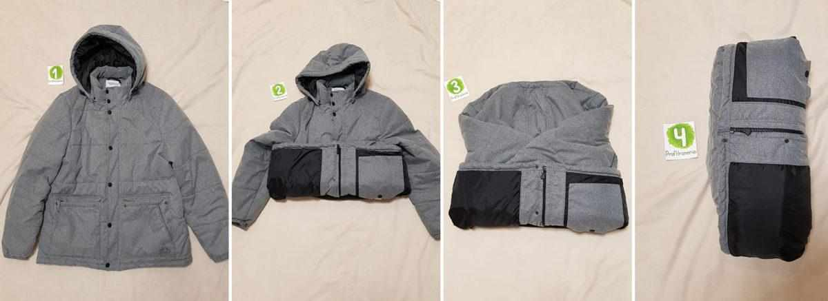 Складывание куртки