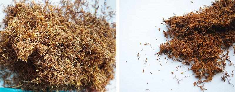 Измельченные листья табака