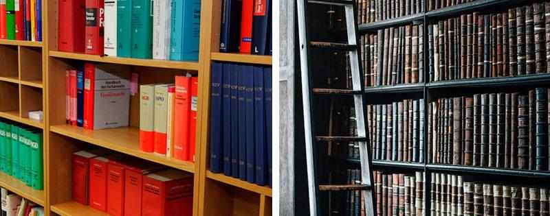 Книги в шкафах