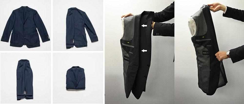Складывание пиджака