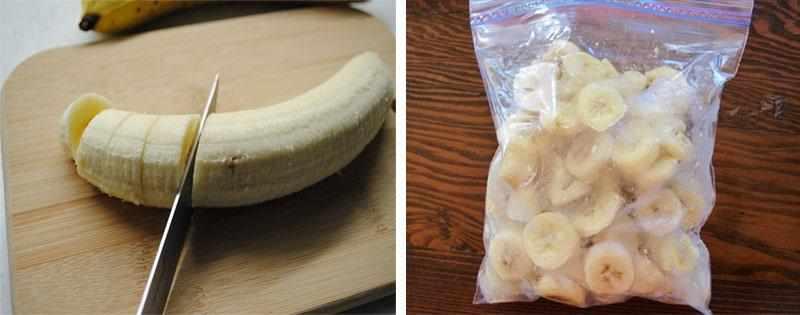 Заморозка бананов в морозилке
