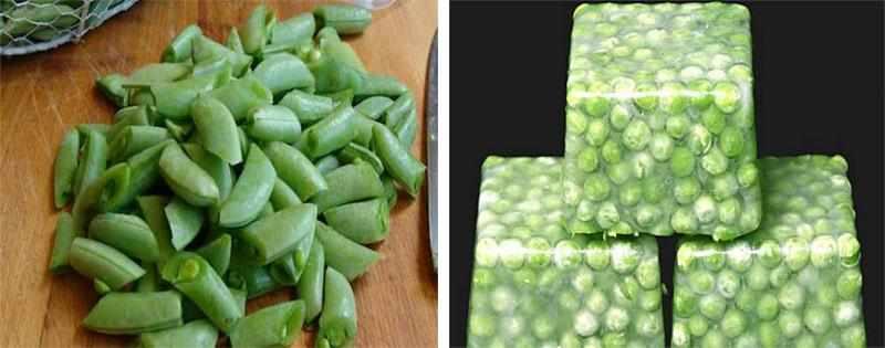 Варианты заморозки зеленого горошка