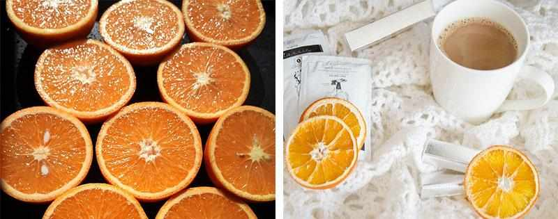 Сушеные кружочки апельсинов