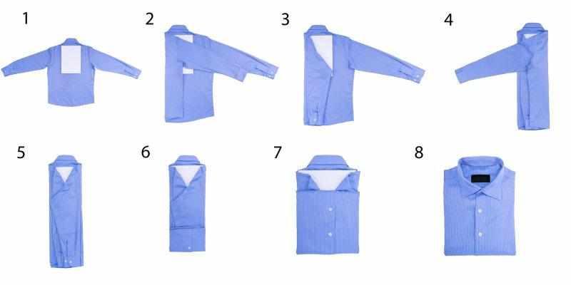 Компактное складывание рубашки