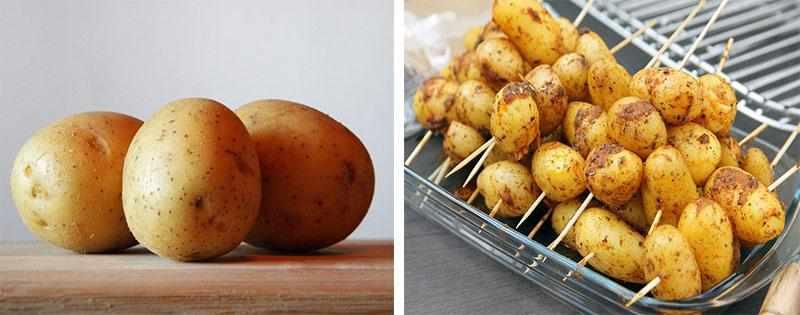 Заготовка целого картофеля
