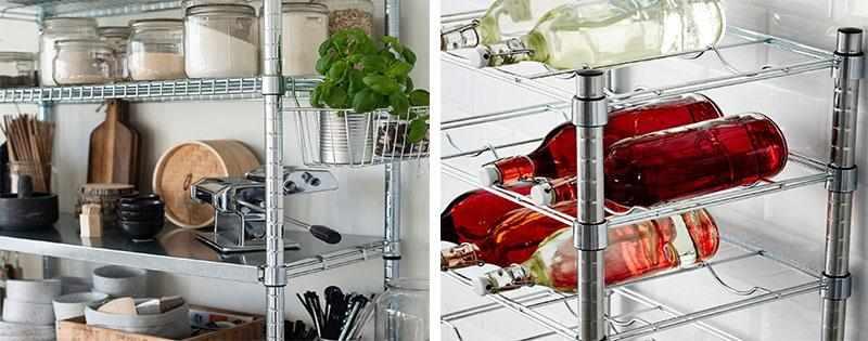 Стеллажи Омар на кухне