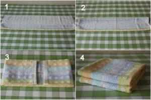 Складывание полотенца компактно