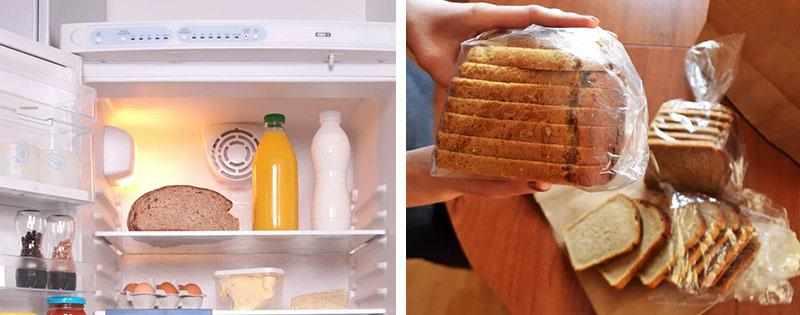 Хлеб в холодильнике