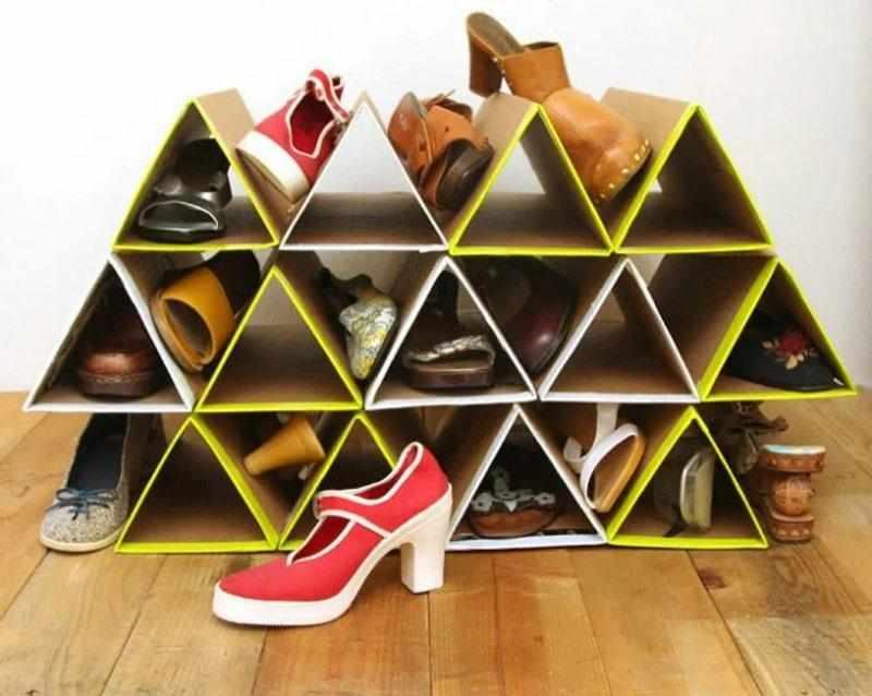 Полка для обуви из картона