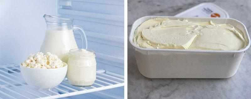 Заморозка сметаны в морозилке