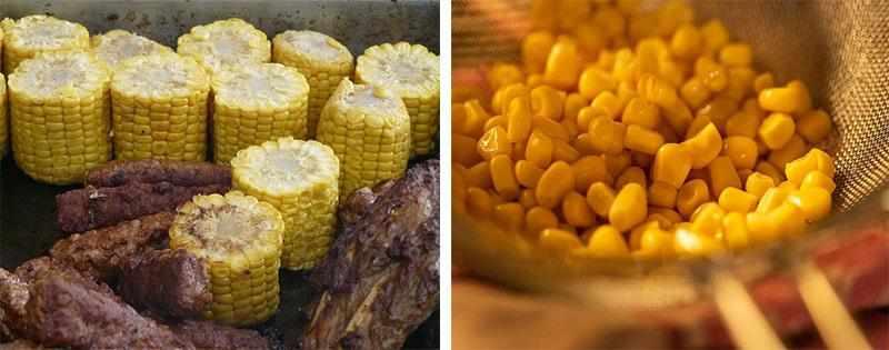 Початки и зерна кукурузы