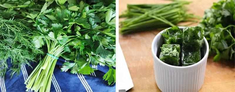 Заготовка зелени с солью
