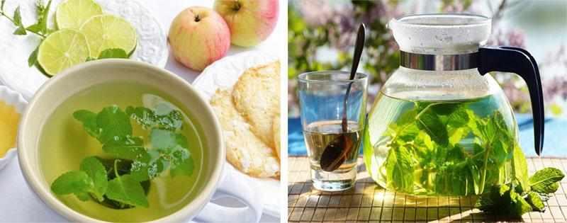 Чай с мятой зимой