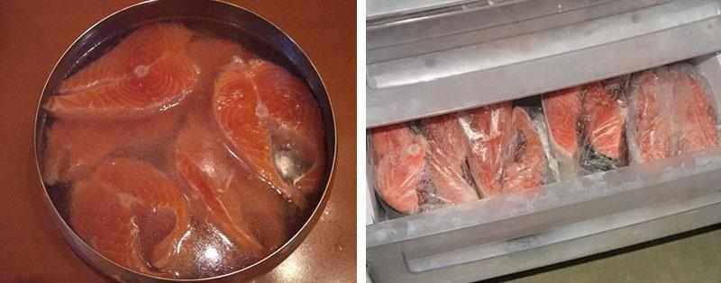 Заморозка красной рыбы