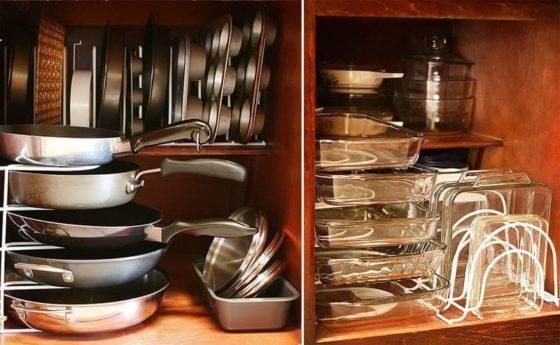Как хранить кастрюли и сковородки