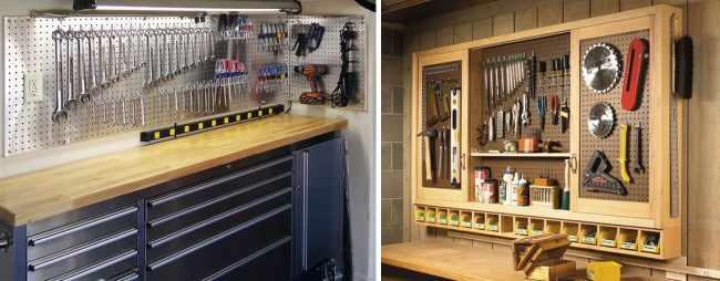Хранение инструмента в квартире: эффективные способы для разных видов помещения