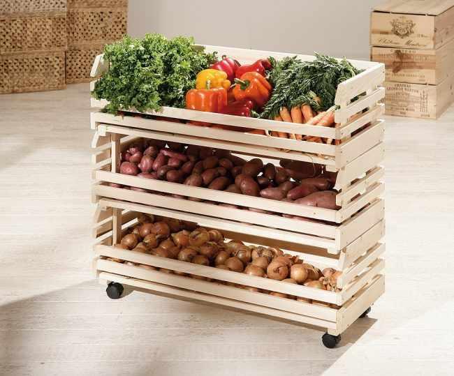 В какой таре лучше хранить овощи в зиму на балконе?