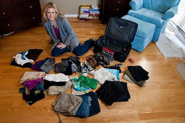 уложить чемодан