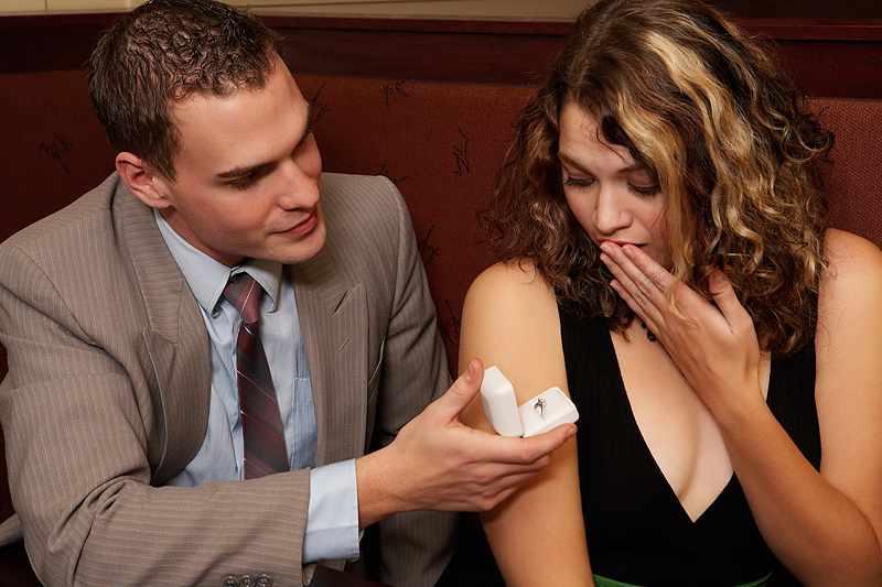 Как правильно сделать девушке предложение руки и сердца?