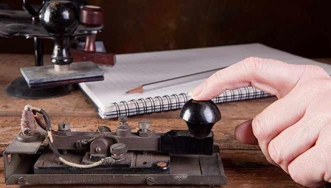 телеграф для морзе