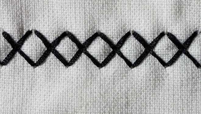 ровный ряд крестиков