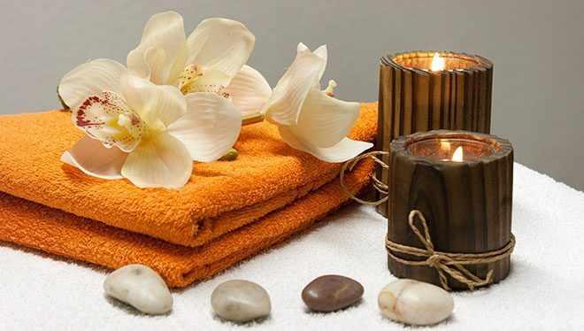 свечи полотенца цветы