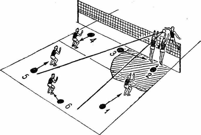 площадка для игры в пионербол