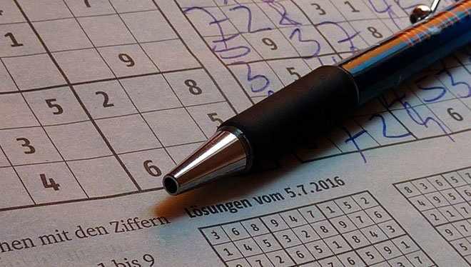 ручка и судоку