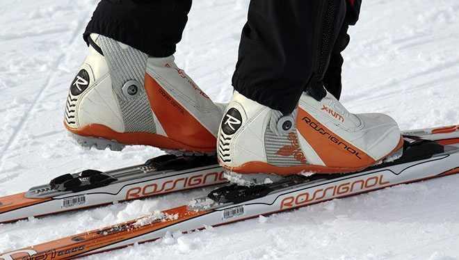 ноги лыжника