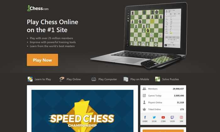 Сайт Chess.com.