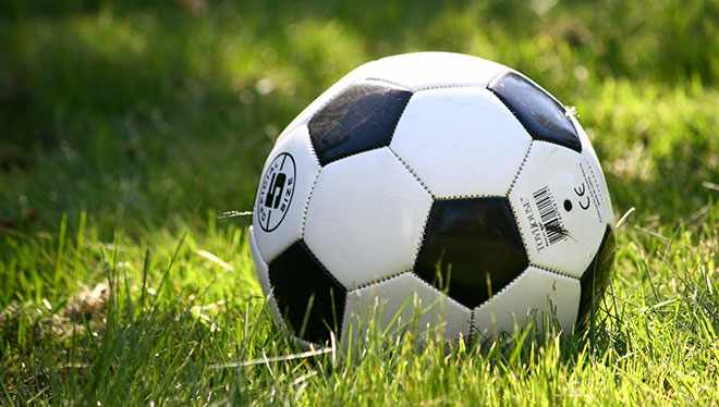 мяч в траве